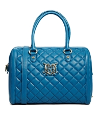 Love Moschino Quilted Bowling Bag Blue