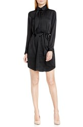 Vince Camuto Women's Tie Neck Belted Shirtdress