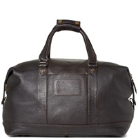 Barbour Leather Holdall Dark Brown