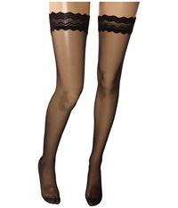 Wolford Day Night 10 Stay Up Thigh Highs Black Women's Thigh High Socks Shoes
