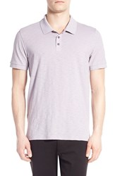 Men's Vince Slub Cotton Polo Lavender Mist