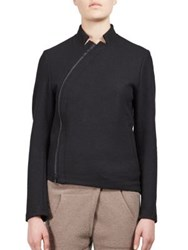 Ann Demeulemeester Asymmetrical Wool Jacket Black
