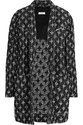 Iro Yana Cotton Blend Boucle Coat Black
