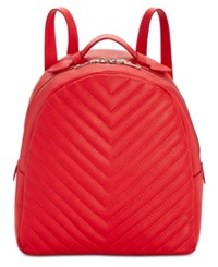 Steve Madden Josie Quilted Backpack Red Gold