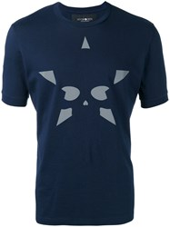 Hydrogen Star Print T Shirt Blue