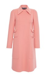 Rochas Patch Pocket Coat Orange