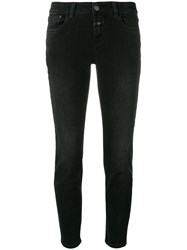 Closed Cropped Skinny Jeans Black