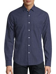 The Blue Shirt Shop Bowery And Bleecker Slim Fit Navy Plaid
