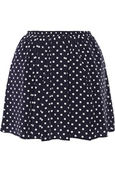 Suno Polka Dot Washed Silk Mini Skirt