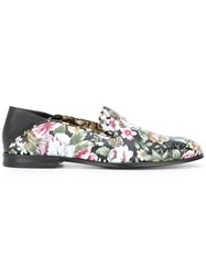 Alexander Mcqueen Floral Print Loafers