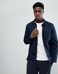 Selected Homme Jacket With Chest Pockets Dark Sapphire Navy