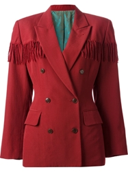 Jean Paul Gaultier Vintage Fringed Jacket Red