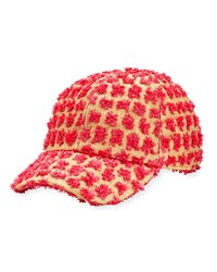 Federica Moretti Tom Frayed Canvas Baseball Cap Pink