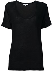 Iro Scoop Neck T Shirt Black
