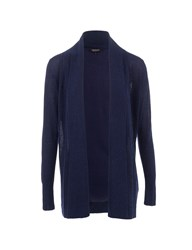 Morgan Glittery Knit Waterfall Cardigan Navy