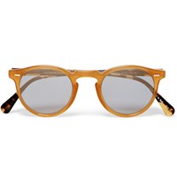 Oliver Peoples Gregory Peck Round Frame Acetate Sunglasses Brown