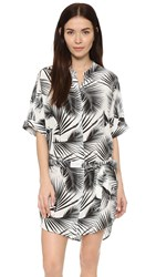 Mikoh Anguilla Slouchy Shirt Dress Palm Leaf
