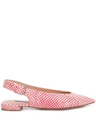 Stuart Weitzman Follow Me Red Slippers Pink