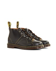 Dr Martens Made In England Church Vintage Smooth Monkey Boot Black