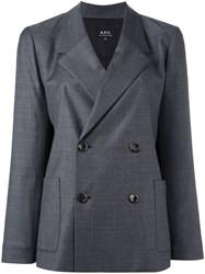 A.P.C. Double Breasted Blazer Grey