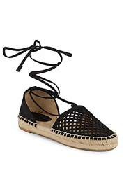 Frye Round Toe Lace Up Espadrilles Black
