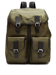 Moncler Rufus Nylon Backpack Khaki