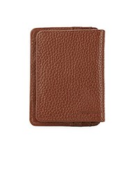 Cole Haan Textured Leather Wallet Chocolate
