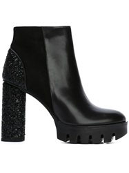 Markus Lupfer Sequin Panelled Boots Black