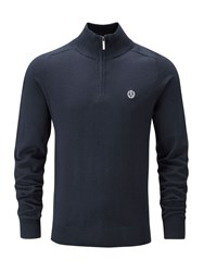 Henri Lloyd Men's Moray Regular Half Zip Knit Jumper French Navy