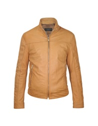 Forzieri Men's Brown Soft Leather Motorcyle Jacket