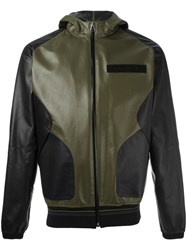 Givenchy Hooded Leather Jacket Green