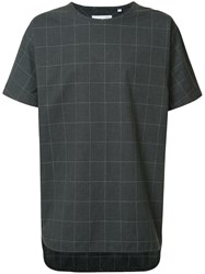 Private Stock Checked T Shirt Grey
