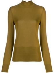 Jacquemus Cut Out Back Detail Sweater Green
