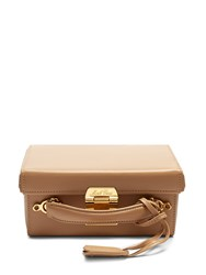 Mark Cross Grace Large Leather Box Bag Nude