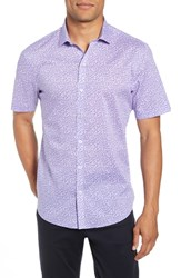 Zachary Prell Stiller Trim Fit Sport Shirt Purple