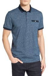 Ted Baker Men's London Teller Print Polo Navy