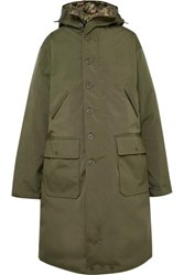 R 13 R13 Oversized Canvas Down Coat Green