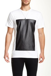 Hip And Bone Faux Leather Box Tee White