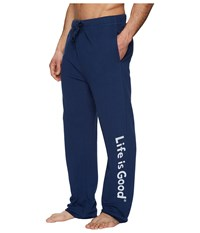 Life Is Good Evolved Classic Lig Fleece Lounge Pant Darkest Blue