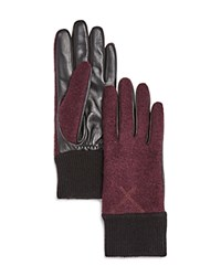 Ugg Wool And Leather Tech Gloves Port