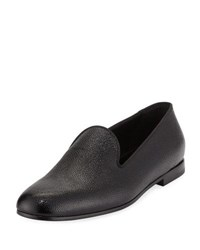 Giorgio Armani Patent Caviar Leather Formal Loafer Black