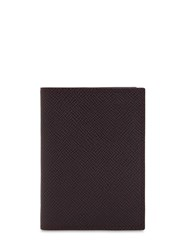 Pineider 720 Mini Leather Card Holder Purple