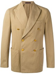 The Gigi Double Breasted Jacket Men Cotton 50 Brown