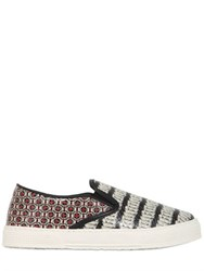 Kurt Geiger Snake Printed Leather Sneakers