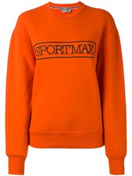 Sportmax Logo Sweatshirt Women Cotton Polyamide Spandex Elastane M Yellow Orange