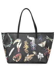 Etro Animal Print Shopper Bag Black
