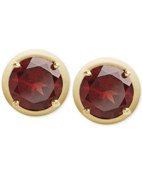 Victoria Townsend Garnet Stud Earrings In 18K Gold Over Sterling Silver 5 Ct. T.W.