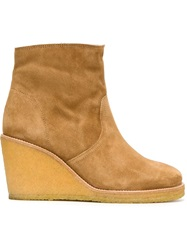 A.P.C. Wedged Ankle Boots Nude And Neutrals