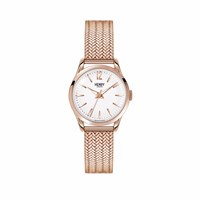 Henry London 25Mm Ladies' Richmond Stainless Steel Strap Watch White Rose Gold