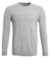 United Colors Of Benetton Jumper Grey Mottled Light Grey